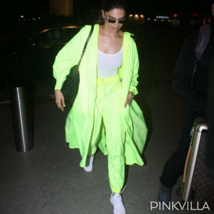 Netizens want to know if Ranveer Singh is the inspiration behind Deepika Padukone's neon green airport look