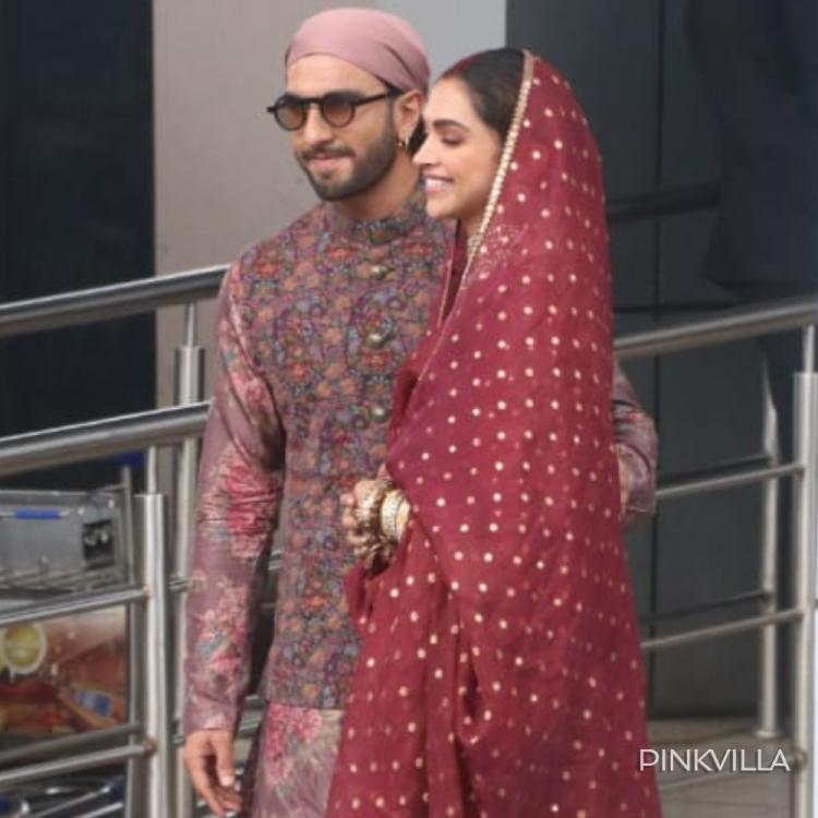PHOTOS: Ranveer Singh & Deepika Padukone get papped at the airport as they return from Amritsar with family