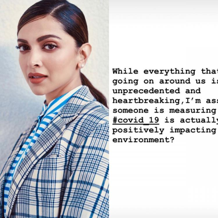 Deepika Padukone wonders if someone is tracking the positive impact of Covid 19 on our environment