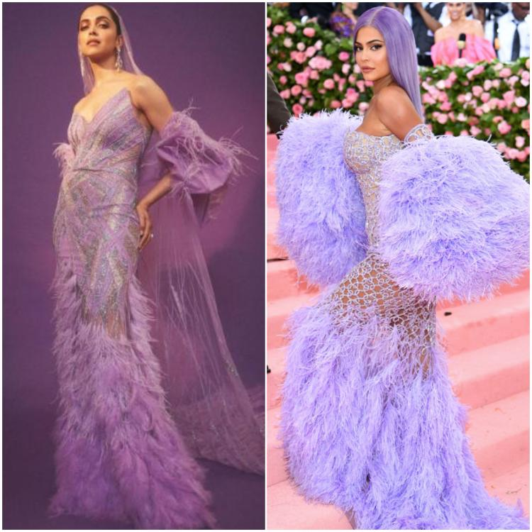 Fashion Faceoff: Deepika Padukone or Kylie Jenner: Who wore the purple gown with feather detailing better?