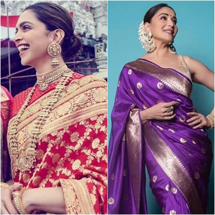 Deepika Padukone to Madhuri Dixit; Celebrity inspired silk sarees every woman must have in their wardrobe