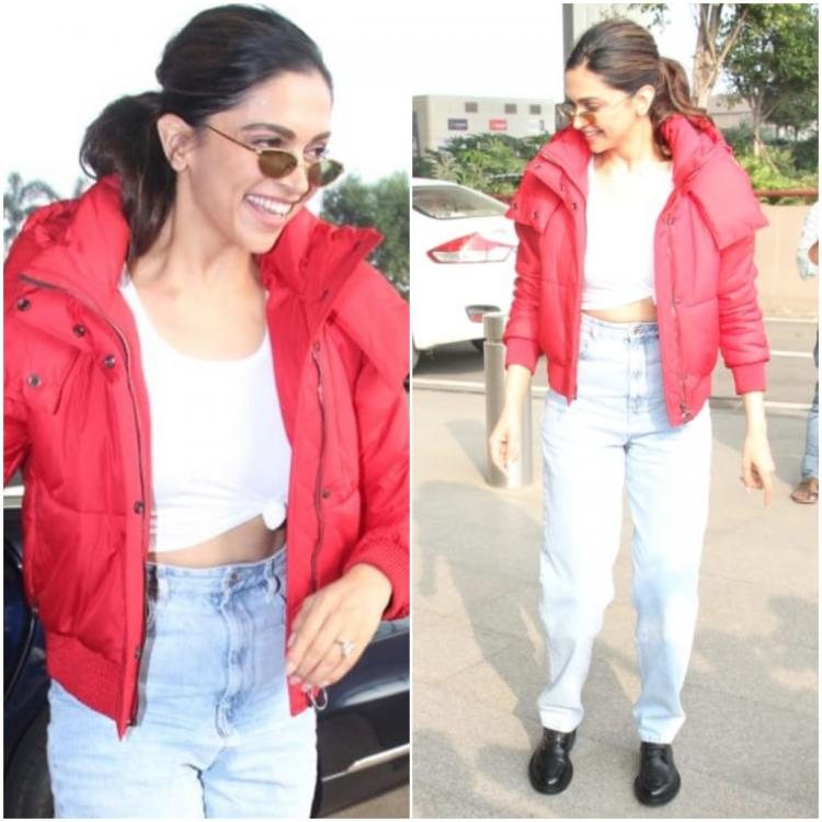 Deepika Padukone's casual airport attire by Off White is what every girl needs this winter; Yay or Nay?