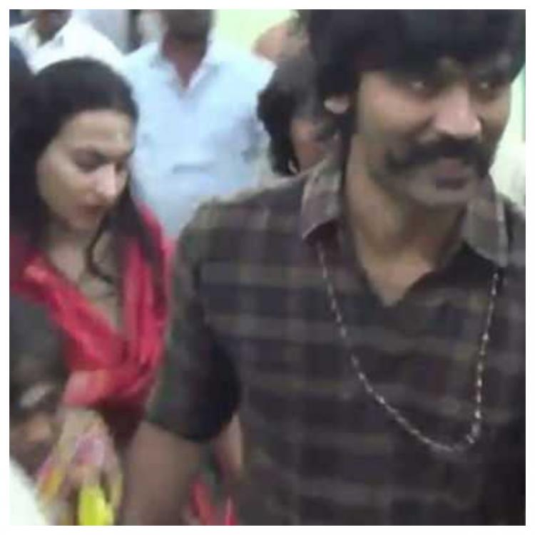 Dhanush offers prayers at Palani temple with wife Aishwarya Dhanush and sons post wrapping up D40