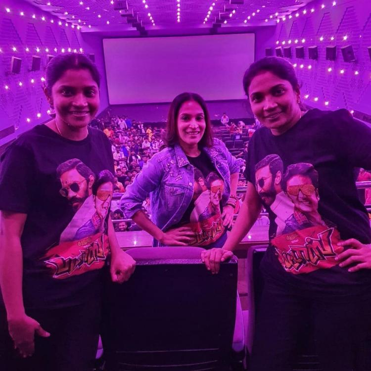 Dhanush's wife Aishwaryaa enjoys watching Pattas with friends and family; See Photos