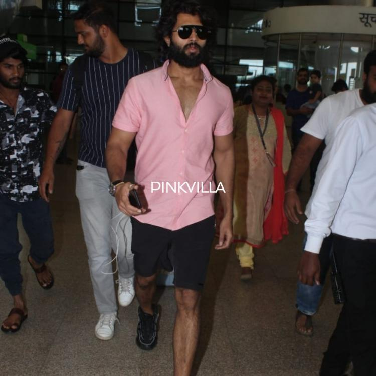 PHOTOS: Vijay Deverakonda returns to Hyderabad post attending an event in Goa
