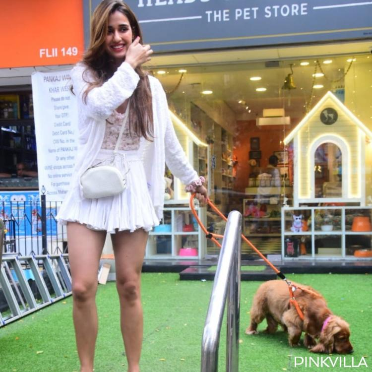 PHOTOS: Disha Patani lights up the internet as she steps out with her dog for a shopping spree; Check it out