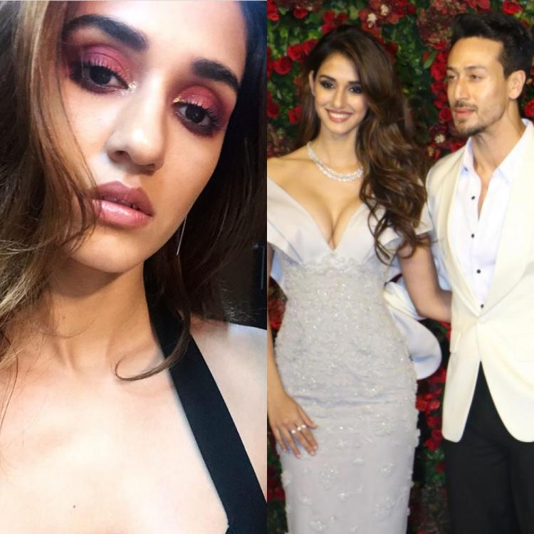 Tiger Shroff drops a fiery comment as Disha Patani turns makeup artist & gives sneak peek of her look