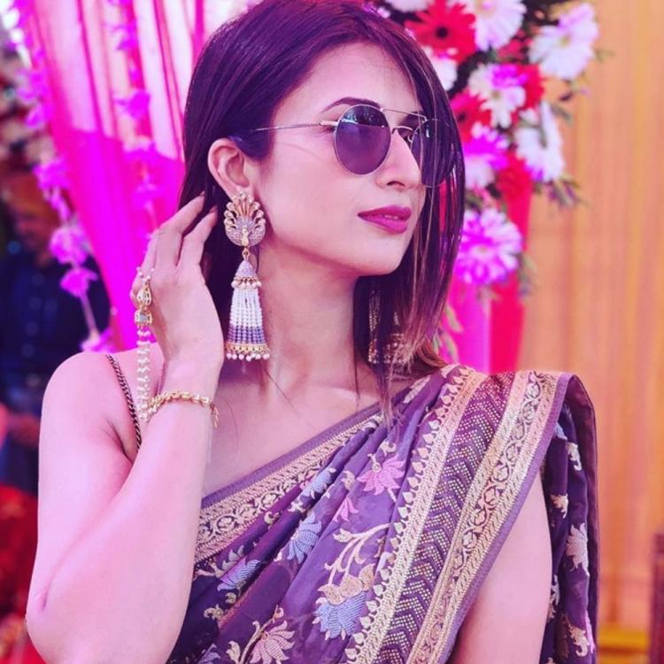 Divyanka Tripathi Dahiya's saree and shades look is the definition of swag; See Pic
