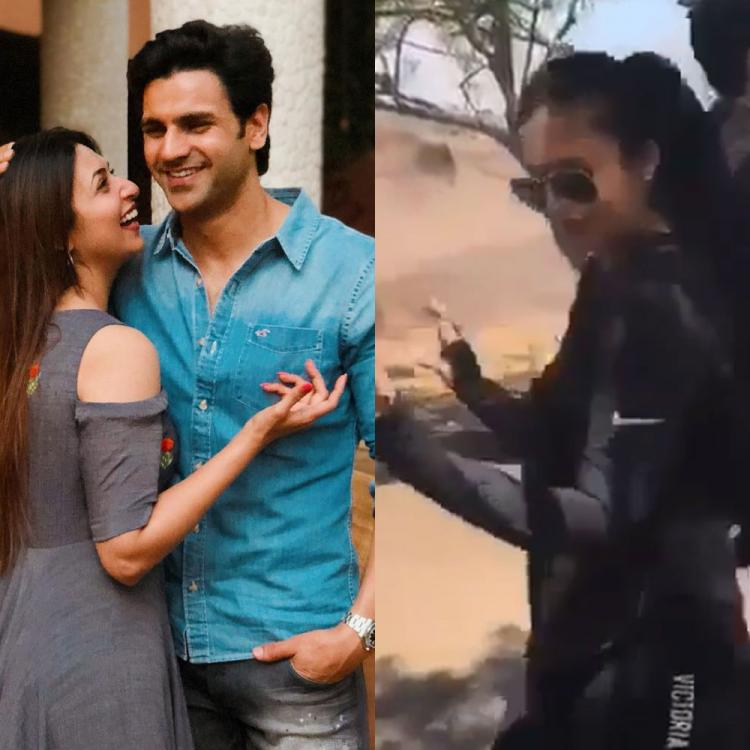 Divyanka Tripathi and Vivek Dahiya grooving to dhol beats in this UNSEEN video will make wear your dance shoes