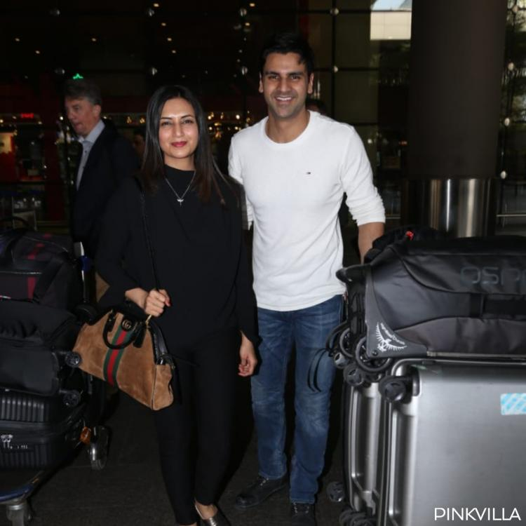 Divyanka Tripathi and hubby Vivek Dahiya are all smiles as they get papped at the airport; View Pics