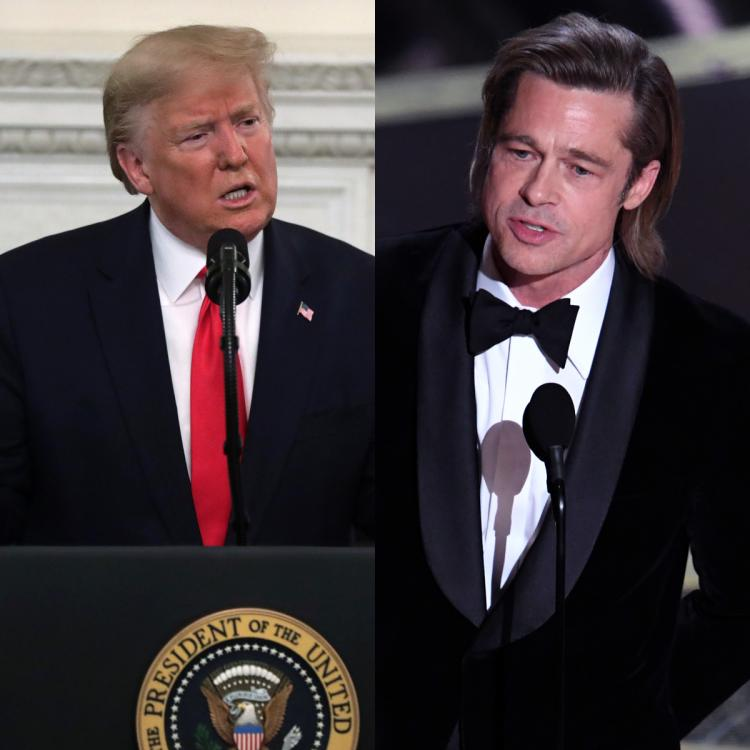 Brad Pitt,donald trump,Hollywood,Oscars 2020