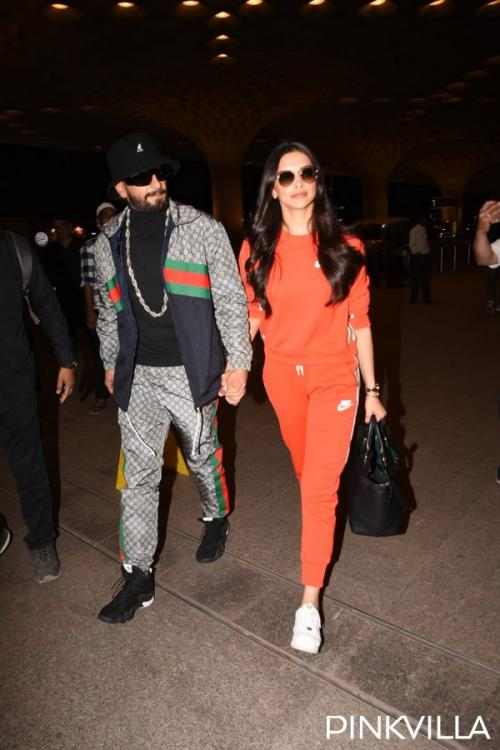 Photos: Deepika Padukone and Ranveer Singh jet off to London to unveil DP's wax statue at Madame Tussauds