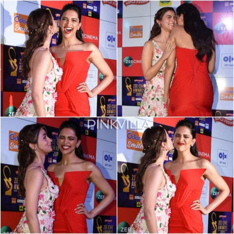 PHOTOS: Deepika Padukone and Alia Bhatt can't stop their chuckles and we are wondering what's the joke