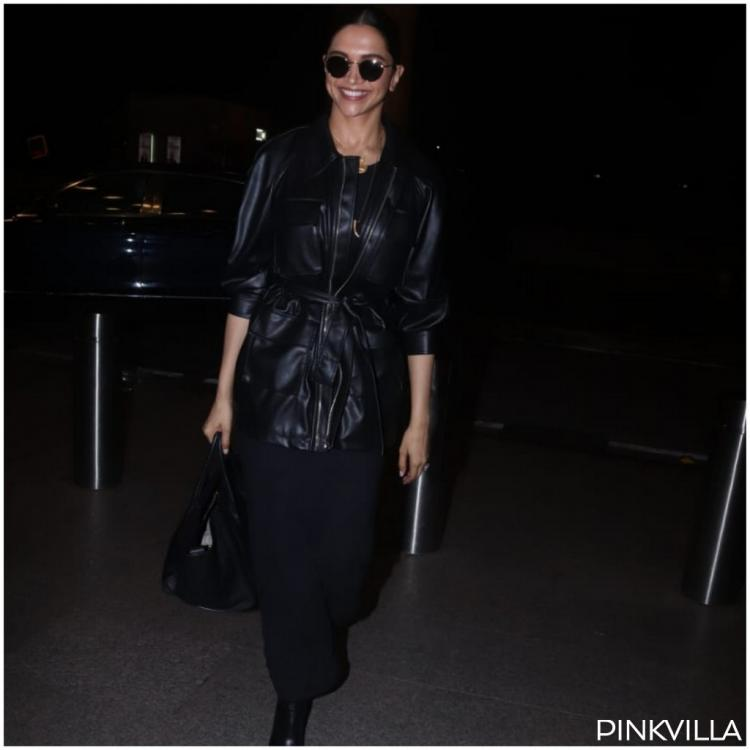 PHOTOS: Deepika Padukone's all black look game is getting strong and these airport pictures are proof