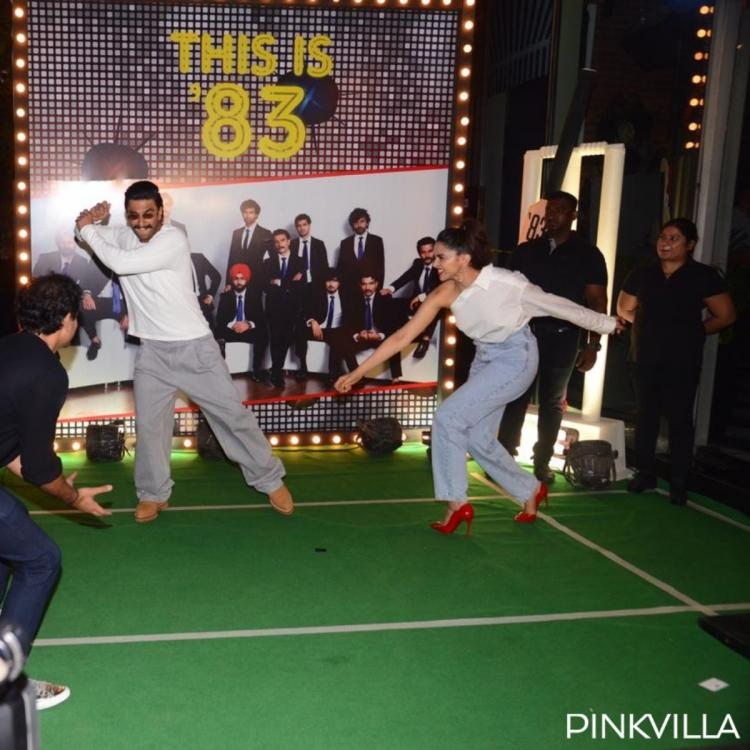PHOTOS: Ranveer Singh and Deepika Padukone are in a playful mood at the wrap up party of their film '83