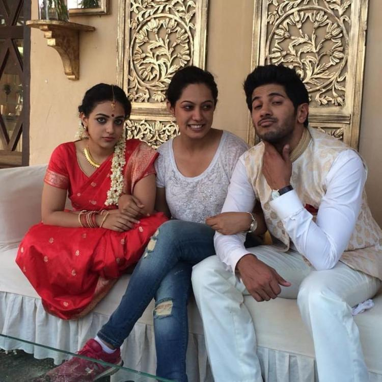 Nithya Menen & Dulquer Salmaan look totally in character in this BTS picture from the sets of Ok Kanmani