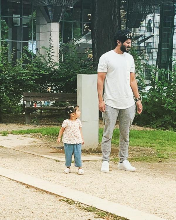 Dulquer Salmaan's 'twinning moment' with his daughter Maryam will melt your heart; Check it out