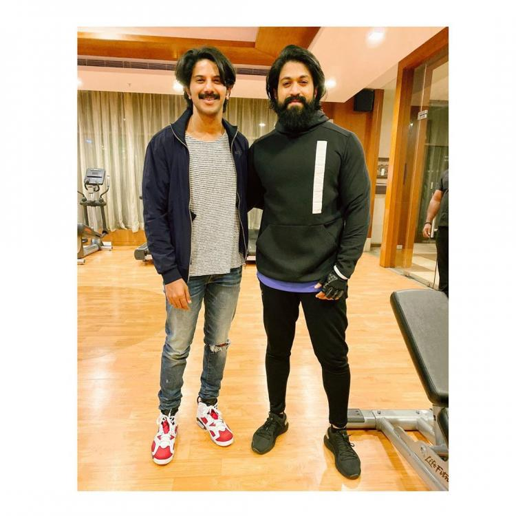 Dulquer Salmaan shares an epic picture with KGF 2 star Yash; Says 'Touched by your kindness'