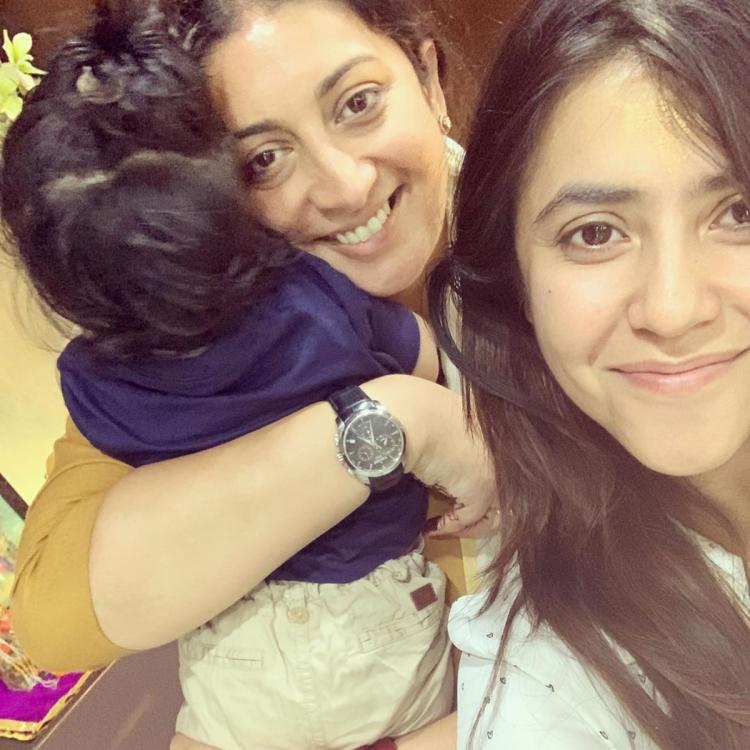 Ekta Kapoor posts an adorable picture with 'friend for life' Smriti Irani; Check out the politician's response