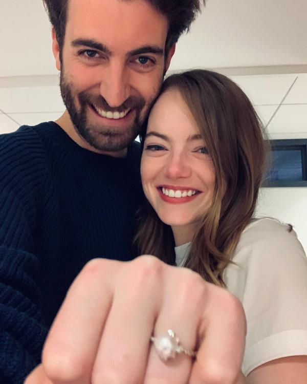 Emma Stone in La La Land as she gets engaged to SNL writer Dave McCary after 2 years of dating