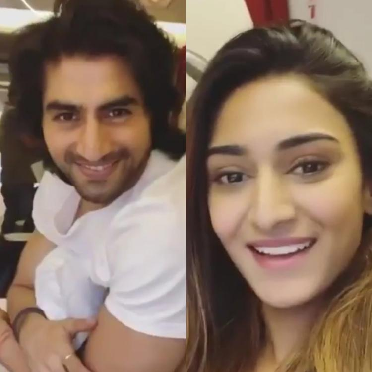 KZK's Erica Fernandes and Bepannaah's Harshad Chopda look excited as they boomerang their way to London; WATCH