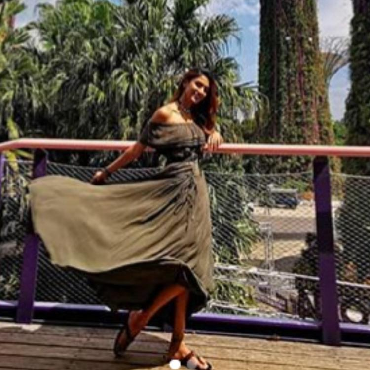 Kasautii Zindagii Kay's Erica Fernandes radiates happiness as she poses amidst nature; Take a look