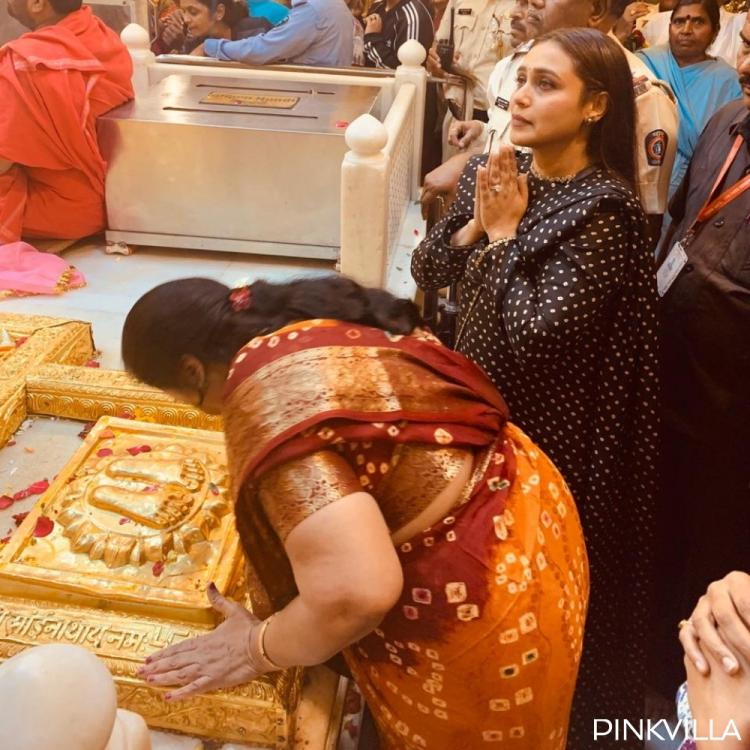 EXCLUSIVE PICS: Rani Mukerji gets overwhelmed as she offers prayers at Shirdi temple for Mardaani 2's success