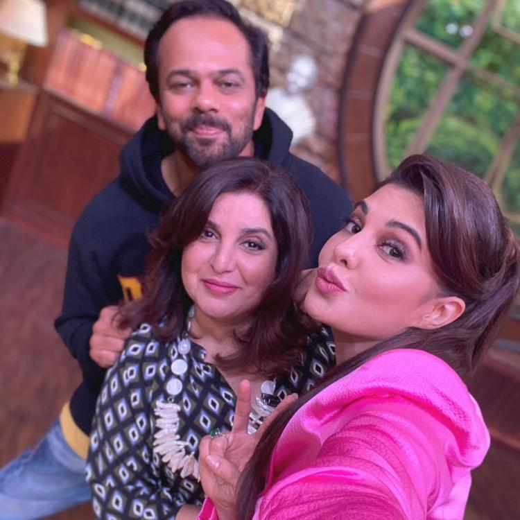 PHOTO: Jacqueline Fernandez, Farah Khan and Rohit Shetty are delighted to pose for a selfie; Check it out