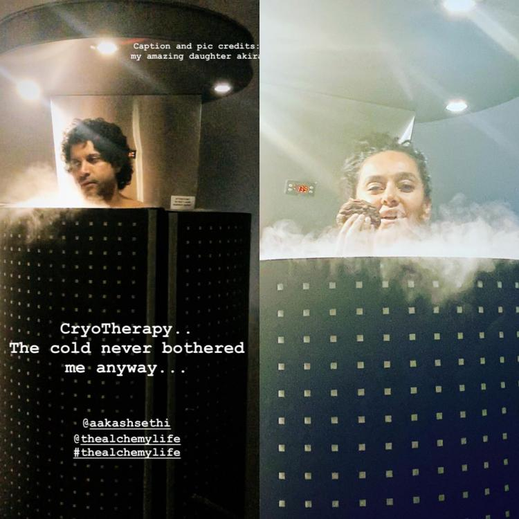 Farhan Akhtar and Shibani Dandekar undergo the Cryotherapy; Former says 'The cold never bothered me anyway'