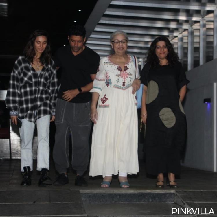 PHOTOS: Farhan Akhtar and Shibani Dandekar dine out with family amidst marriage rumours