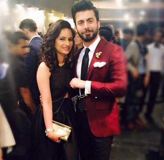 Fawad Khan with wife Sadaf at the Lux Style Awards 2015   PINKVILLA