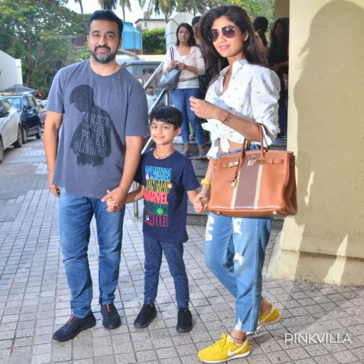 PHOTOS: Shilpa Shetty bonds with family and spends her day out with hubby Raj Kundra and son Viaan
