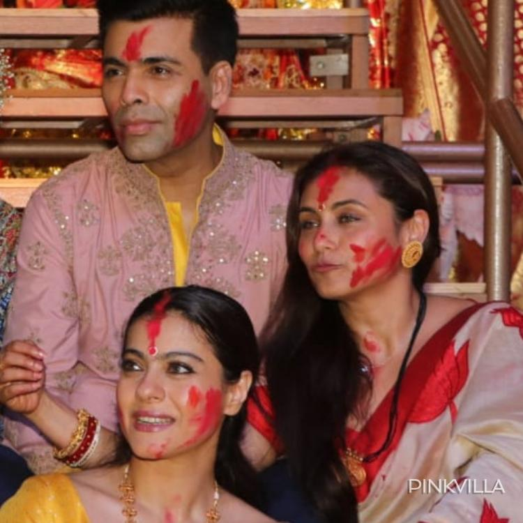 PHOTOS: Rani Mukherjee, Kajol & Karan Johar have a Kuch Kuch Hota Hai reunion at the Dussehra celebration