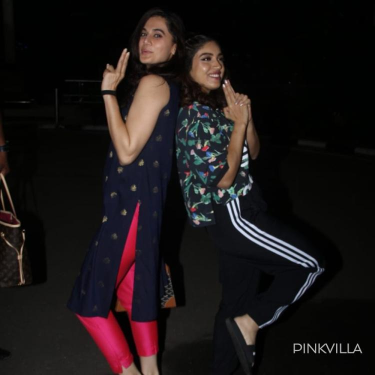 PHOTOS: Taapsee Pannu & Bhumi Pednekar still in the Saand Ki Aankh mode as they get papped at the airport