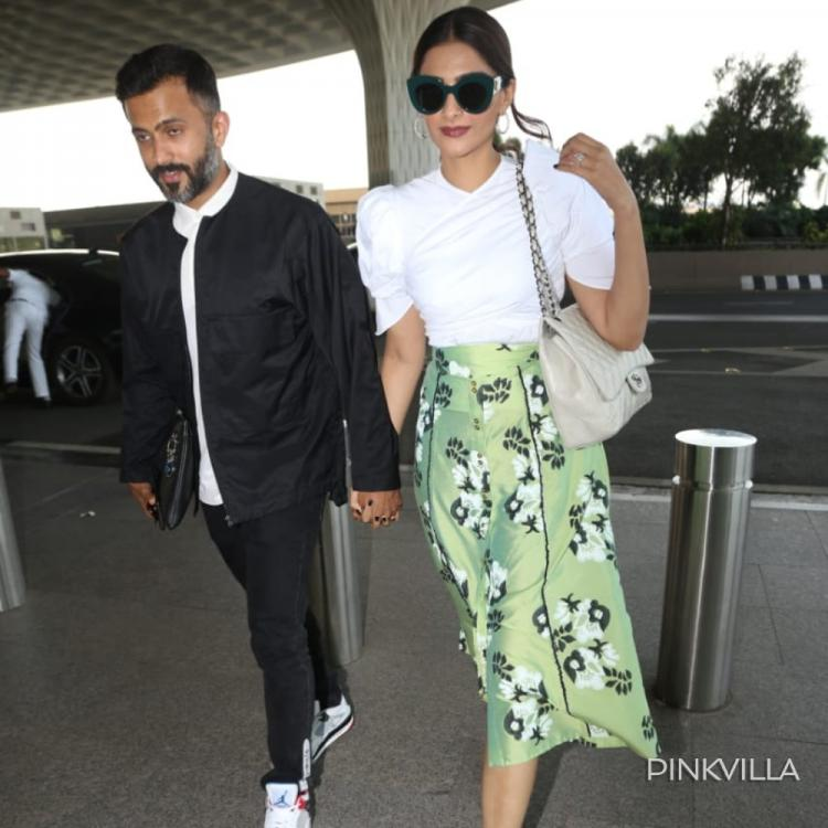 PHOTOS: Sonam Kapoor steps out in style and stuns in her airport look along with hubby Anand Ahuja