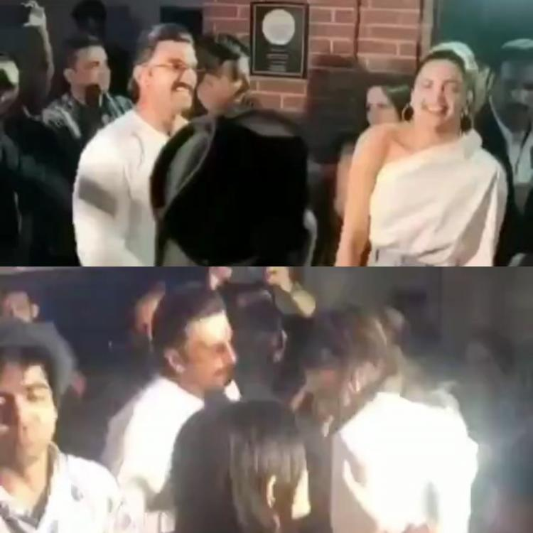 Deepika Padukone and Ranveer Singh can't keep their eyes off each other at the '83 wrap up party; Watch