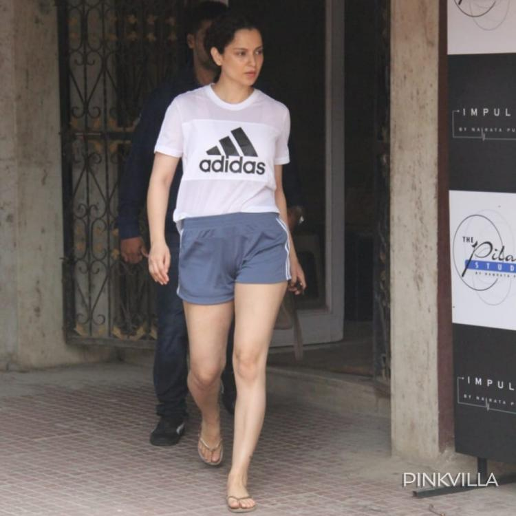 PHOTOS: Kangana Ranaut sports a cool and casual look as she gets papped outside her pilates classes