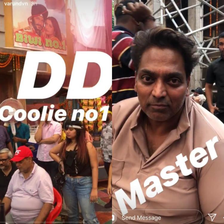 Varun Dhawan shares a behind the scene video and gives us a sneak peek into the sets of Coolie No.1