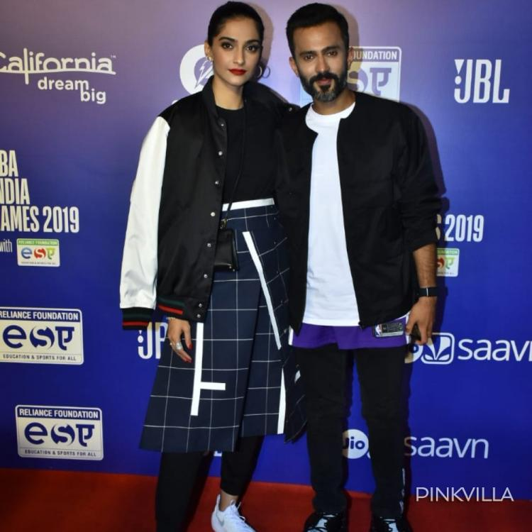 PHOTOS: Sonam Kapoor stuns along with hubby Anand Ahuja in an unconventional style as they arrive for an event
