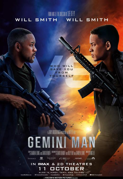 Gemini Man is slated to release in India on October 11, 2019.