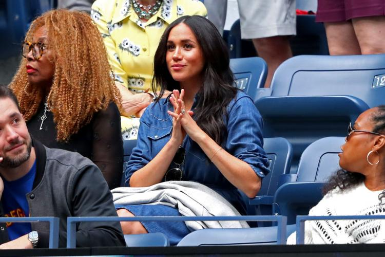 Meghan Markle's donned a budget friendly denim ensemble while cheering for Serena Williams at the U.S Open