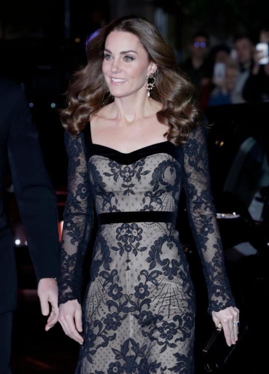 Kate Middleton takes the lacy route in a show stopping Alexander McQueen gown with Prince William