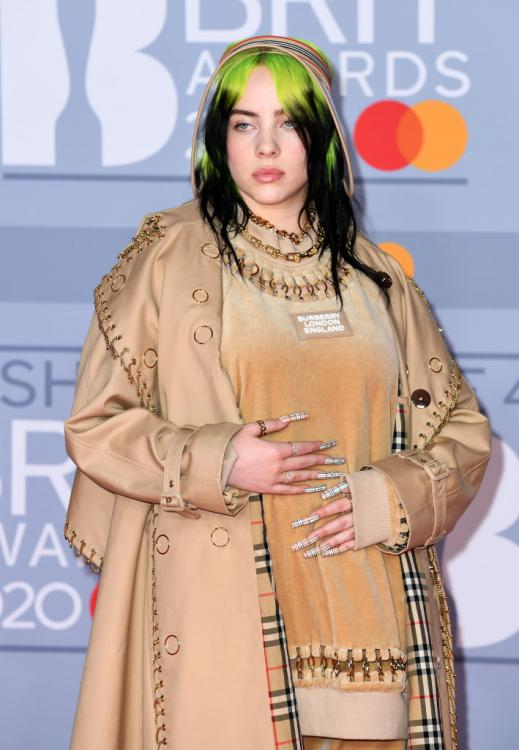 Billie Eilish collaborated with Japanese artist Takashi Murakami to create an artsy tshirt collection