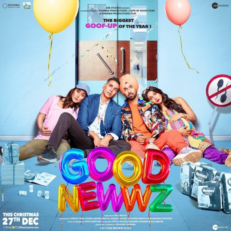 Good Newwz New Poster: Akshay Kumar, Kareena Kapoor, Kiara & Diljit are exhausted with their goofed up lives
