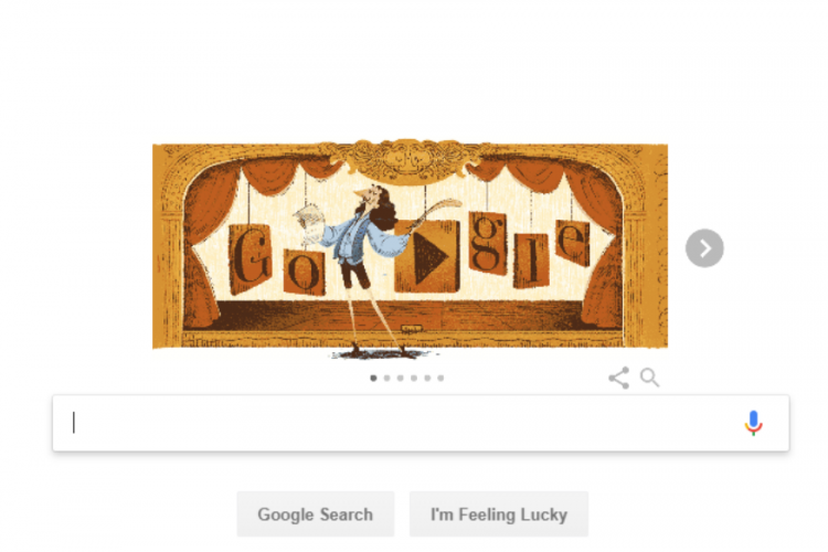 Google Doodle celebrates French playwright Molière's life by remembering his last play