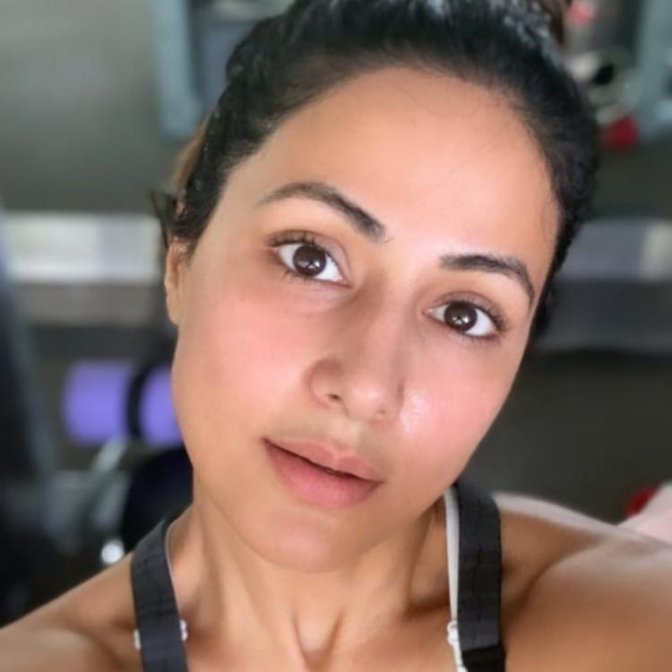 Hina Khan flaunts her post workout glow after a rigorous gym session; WATCH