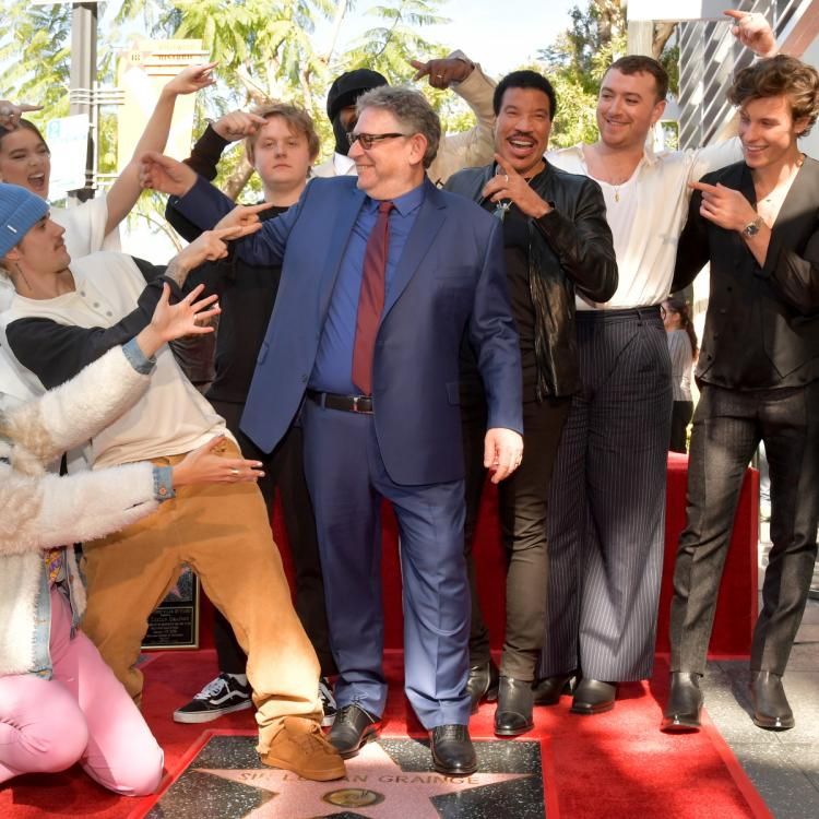 Shawn Mendes introduced Lucian Grainge during the latter's Hollywood Walk of Fame ceremony.