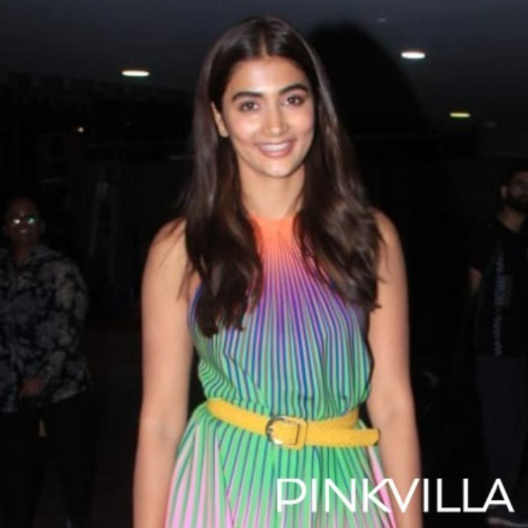 Pooja Hegde aces her style game with a multi colour dress at the airport; See Pics