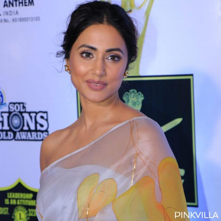 PHOTOS: Hina Khan looks like a dream in her white chiffon saree at Lions Gold Awards 2020