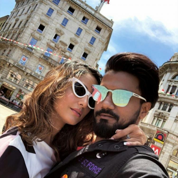 Hina Khan and Rocky Jaiswal in Milan